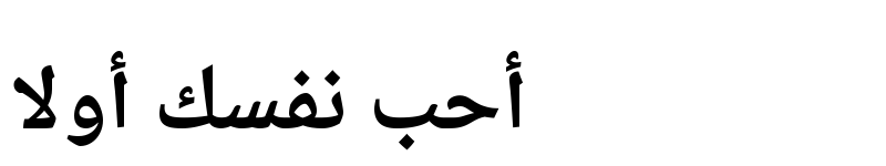 Preview of Sahl Naskh Bold